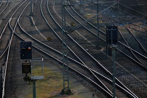 Foto op Plexiglas Spoorlijn Bahnschiene
