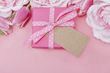 Pink Gift Background
