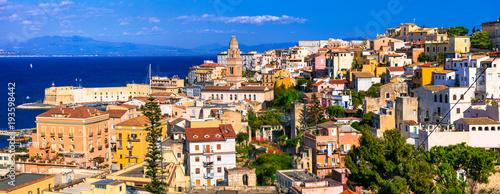 Plexiglas Freesurf View of beautiful coastal town Gaeta . Landmarks of Italy, Lazio