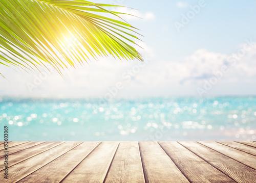 Leinwandbild Motiv Blurred blue sky background