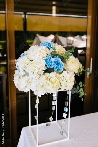 Fotobehang Hydrangea Hydrangea Flower Arrangements for Wedding. Artwork
