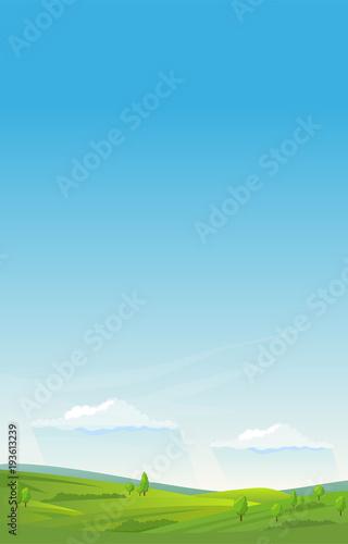 Plexiglas Pool Vertical summer landscape background