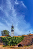 Fish eye view of Petrovaradin Fortress and the clock tower - 193620699