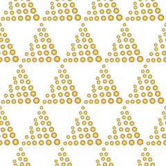 Triangle points.Golden sequins. Splashes of shining particles. A tool with gold drops. A rich background. A vector illustration.