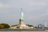 Nice view on isolated Statue of Liberty New York - 193632078