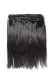 virgin remy straight black human hair weaves extensions  - 193642408