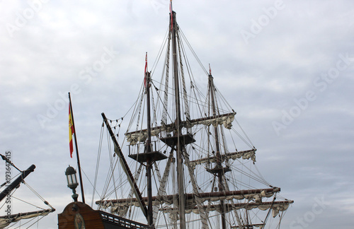 Keuken foto achterwand Schip photo of old ship