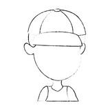 cute and little boy vector illustration design