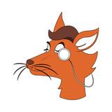 Stylish fox cartoon vector illustration graphic design - 193650272