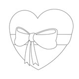 Heart with ribbon vector illustration graphic design - 193650492