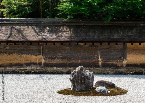 Tuinposter Stenen in het Zand 京都 龍安寺 石庭