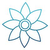 Beautiful flower symbol icon vector illustration graphic design