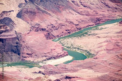 Deurstickers Lichtroze Grand Canyon landscape