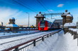 Train of the Moscow central railway circle