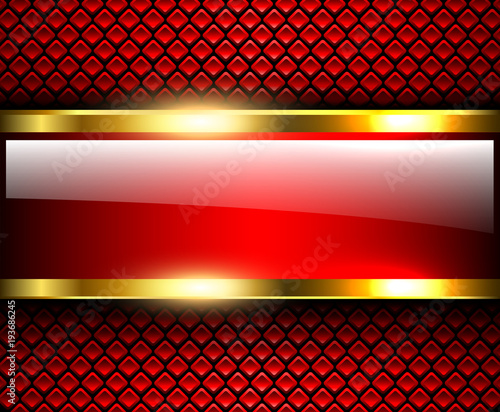 Abstract background glossy and shiny red metallic