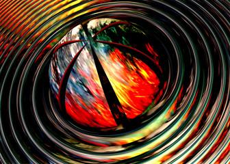 3D rendered illustration artwork of virtual scene