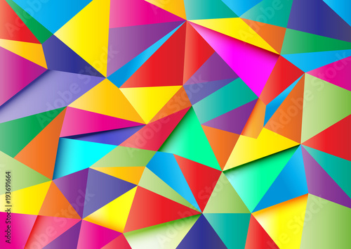 Poster colorful abstract polygon 1