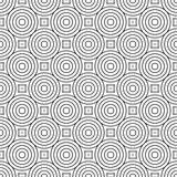 Seamless concentric circle link abstract geometric pattern background - 193696281