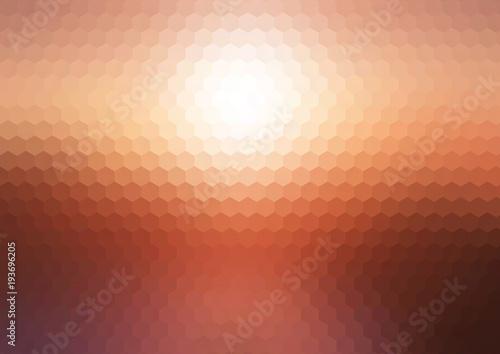 Abstract sunset hexagonal mosaic background