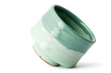 green pottery cup