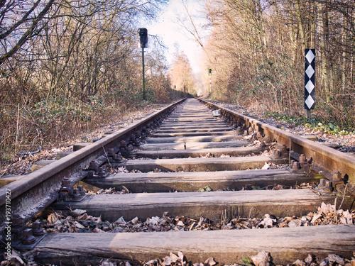 Foto op Canvas Spoorlijn Gleis