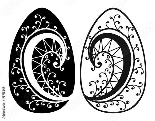 Vintage Easter eggs spring season vector isolated illustration