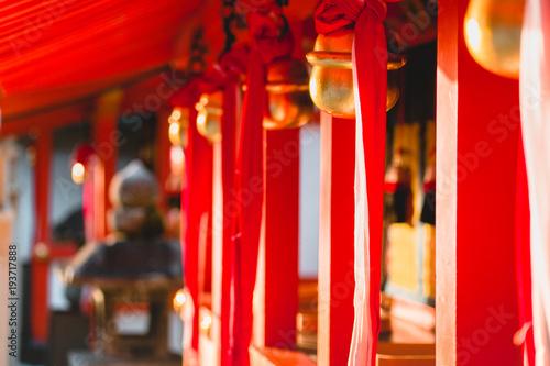 Fotobehang Rood traf. Fushimi Inari Shrine, shrine, Torii