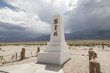 Monument at Manzanar War Relocation Camp