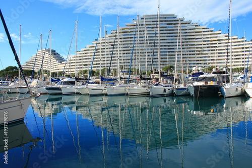 Foto op Canvas Nice Marina baie des anges à Villeneuve Loubet, cote d'azur, France