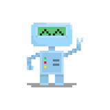 Pixel Character Robot For Games And Web Sites Wall Sticker
