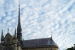 Notre Dame Steeple and Roof, Paris, France