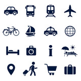 Travel Icon Set. Vector isolaed vacation tourism sign collection