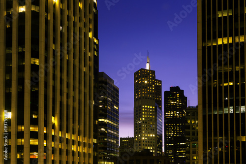 Fotobehang San Francisco City Buildings at Night