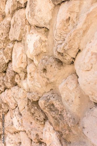 Foto op Canvas Buenos Aires Pared de piedra y roca del Complejo medieval y contemporáneo TorrePueblo