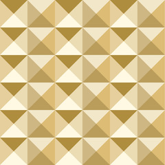 Gold mosaic pattern vector. Geometric background.