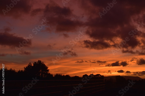 Foto Spatwand Bordeaux New Zealand Sunrise