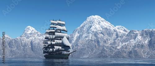 Aluminium Zeilen The sailing ship