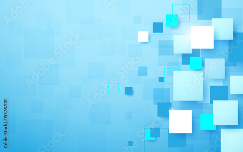 Poster Abstract technology digital hi tech rectangles concept background. Space for your text