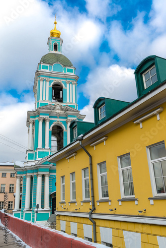 Tuinposter Moskou The Church of Trinity of the Life-giving in the Serebrians in Moscow, Russia