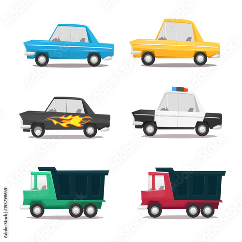 Plexiglas Auto Cartoon car icon set