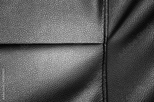 Fototapeta black leather texture background of sofa
