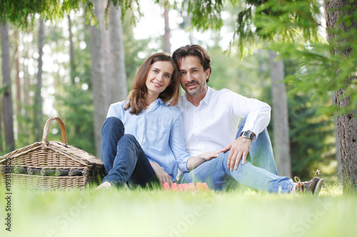 Couple on picnic