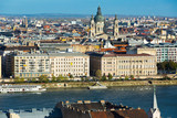 Old town Budapest with historical buildings and  Danube - 193836208