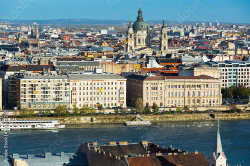 Aluminium Boedapest Old town Budapest with historical buildings and Danube