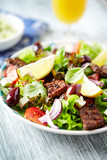 Salad with Grilled Beef Pieces - 193836807