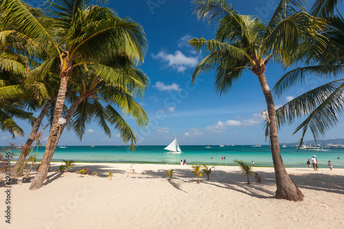Deurstickers Tropical strand Tropical landscape of Boracay island, Philippines