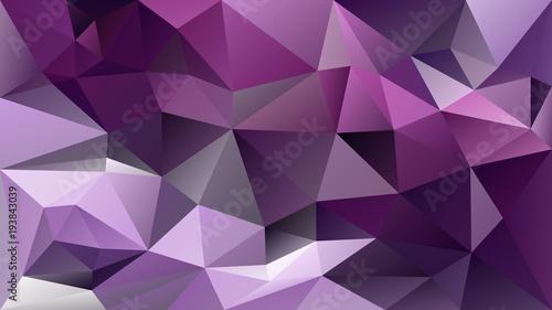 wektor streszczenie nieregularne tło wielokąta - trójkąt wzór low poly - żywy kolor ultra fioletowy, ciemny fiolet i lawendy