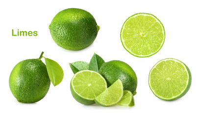 Lime isolated on white background © azure