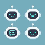 Cute Robot Face Set Wall Sticker