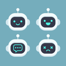 Cute Robot Face Set Sticker